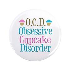 "Cute Cupcake 3.5"" Button"