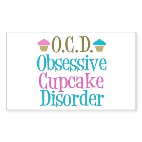 Cute Cupcake Sticker (Rectangle)