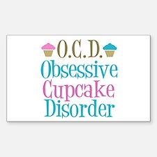 Cute Cupcake Sticker (Rectangle)