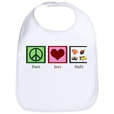 Peace Love Sushi Bib