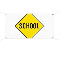 School Sign Banner