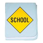 School Sign baby blanket
