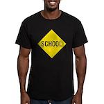 School Sign Men's Fitted T-Shirt (dark)