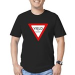 Yield to Temptation Men's Fitted T-Shirt (dark)
