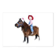 Santa Mini Horse Postcards (Package of 8)