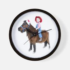 Santa Mini Horse Wall Clock