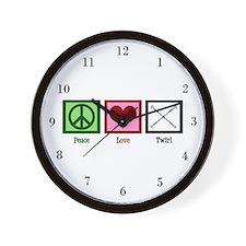 Peace Love Twirl Wall Clock