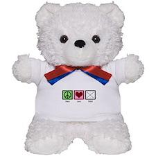Peace Love Twirl Teddy Bear