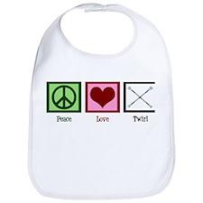 Peace Love Twirl Bib