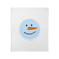 Blue Snowman Throw Blanket