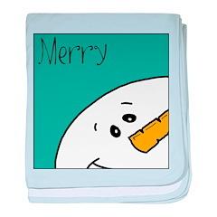 xmas merry baby blanket
