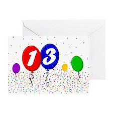 13th Birthday Greeting Card