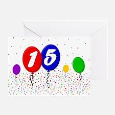 15th Birthday Greeting Card