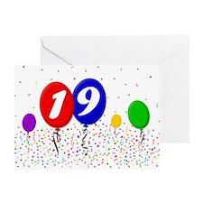 19th Birthday Greeting Card