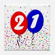 21st Birthday Tile Coaster