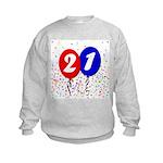 21st Birthday Kids Sweatshirt