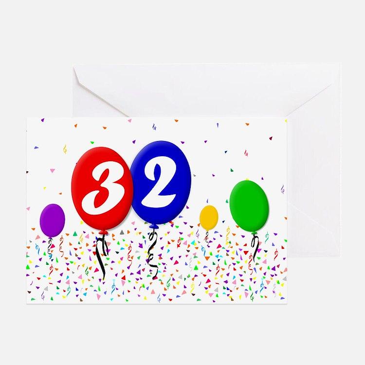 32nd Birthday Greeting Card