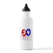 34th Birthday Water Bottle