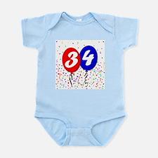 34th Birthday Infant Bodysuit