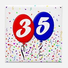 35th Birthday Tile Coaster