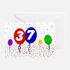 37th Birthday Greeting Card