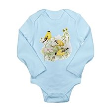 American Goldfinch Long Sleeve Infant Bodysuit