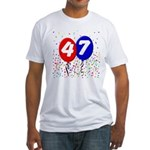 47th Birthday Fitted T-Shirt