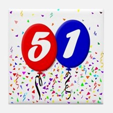 51st Birthday Tile Coaster