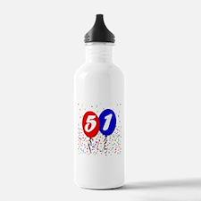 51st Birthday Water Bottle