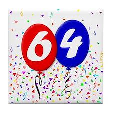 64th Birthday Tile Coaster