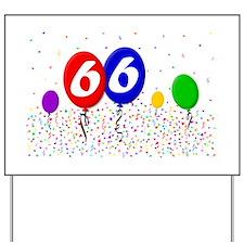 66th Birthday Yard Sign