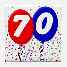 70th Birthday Tile Coaster