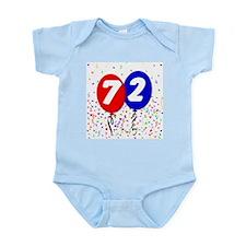 72nd Birthday Infant Bodysuit