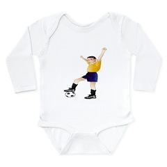 Soccer Lover Gifts Long Sleeve Infant Bodysuit