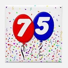 75th Birthday Tile Coaster