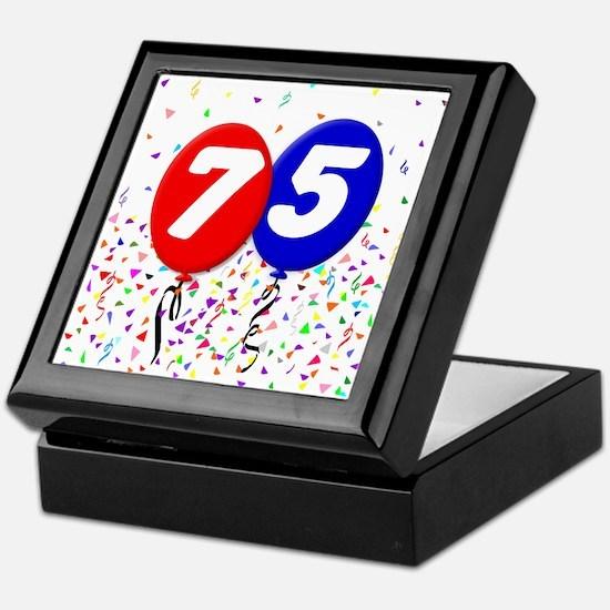 75th Birthday Keepsake Box