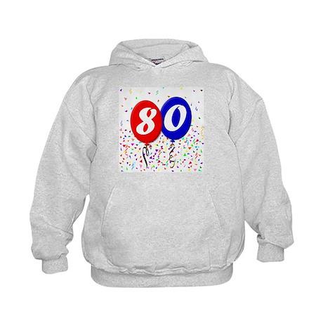 80th Birthday Kids Hoodie