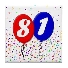 81st Birthday Tile Coaster