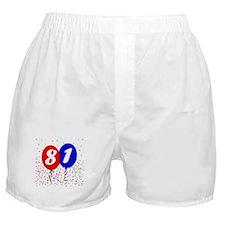 81st Birthday Boxer Shorts