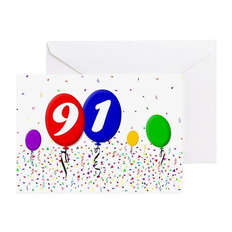 91st Birthday Greeting Card