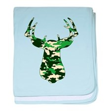 BUCK IN CAMO baby blanket