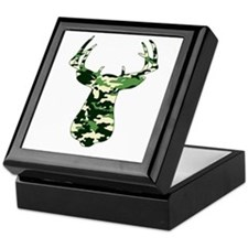 BUCK IN CAMO Keepsake Box