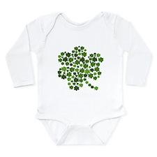 Shamrocks in a Shamrock Long Sleeve Infant Bodysui
