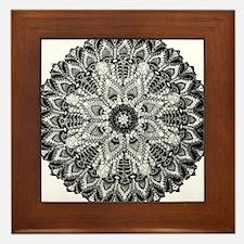 Mandala - B&W Framed Tile
