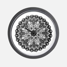 Mandala - B&W Wall Clock