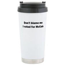 I Voted for McCain Travel Mug