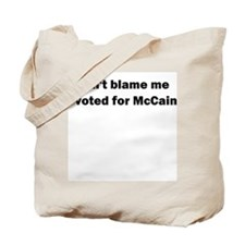 I Voted for McCain Tote Bag