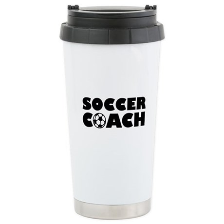 Soccer coach Stainless Steel Travel Mug