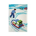 Snowy Day Rectangle Magnet