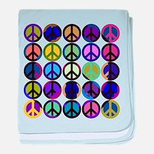Mod Vintage Peace baby blanket
